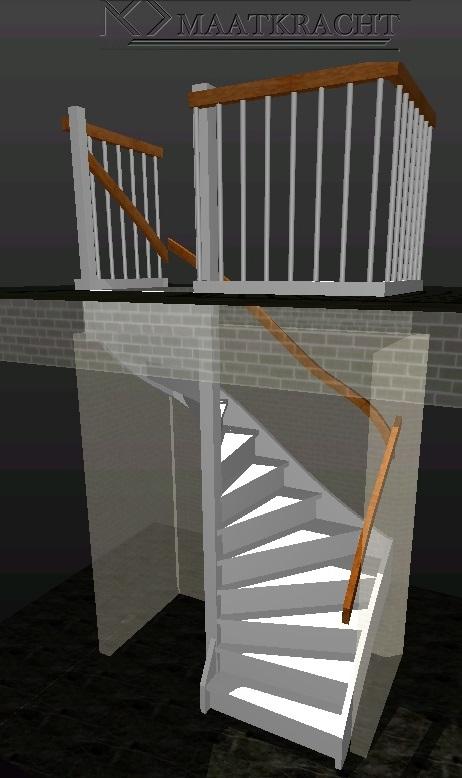 Houten trappen op maat voor naar de zolder of in de for Lengte trap
